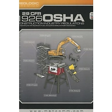 29 Cfr 1926 OSHA Construction Industry Regulations (January 2013 Edition), New Book (9781599594262)