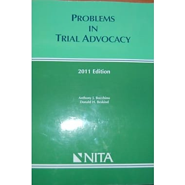 Problems in Trial Advocacy (2011 edition), New Book (9781601561602)