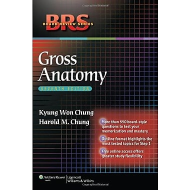 BRS Gross Anatomy (Board Review Series), New Book (9781605477459)