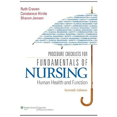 Procedure Checklists for Fundamentals of Nursing: Human Health and Function, New Book (9781605477879)