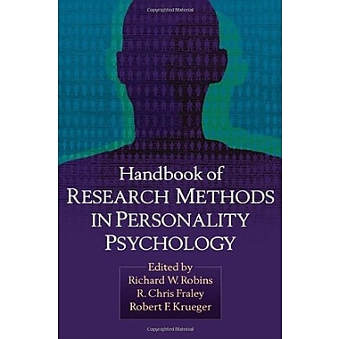 Handbook of Research Methods in Personality Psychology, New Book (9781606236123)