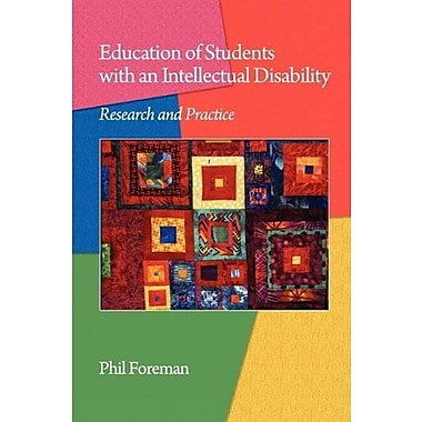 Education of Students with an Intellectual Disability: Research and Practice (PB), New Book (9781607522140)