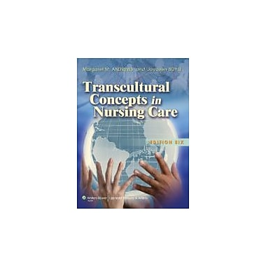 Transcultural Concepts in Nursing Care, New Book (9781608310753)