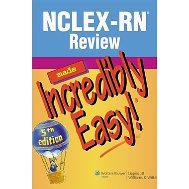 NCLEX-RN Review Made Incredibly Easy! (Incredibly Easy! Series ), New Book (9781608313419)