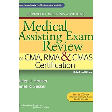 Lippincott Williams & Wilkins' Medical Assisting Exam Review for CMA, RMA & CMAS Certification, New Book (9781609133689)