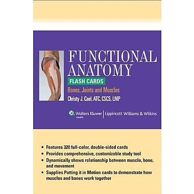 Functional Anatomy Flash Cards: Bones, Joints and Muscles, New Book (9781609136840)