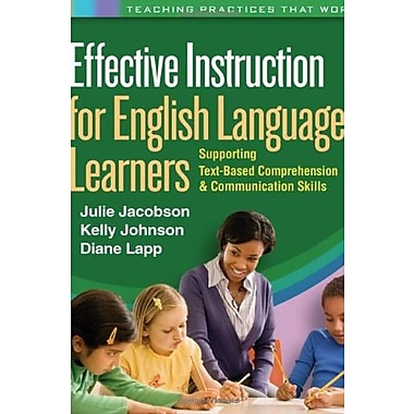 Effective Instruction for English Language Learners, Used Book (9781609182526)
