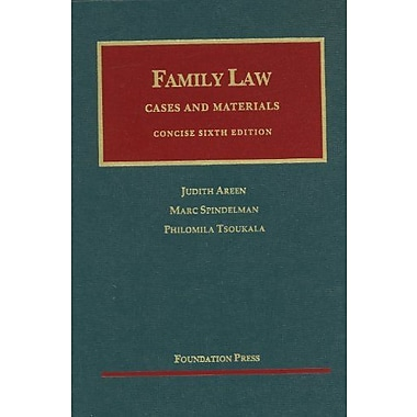 Areen, Spindelman and Tsoukala's Family Law, Concise, 6th (9781609300586)