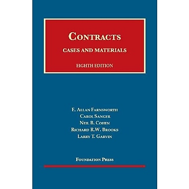 Farnsworth, Sanger, Cohen, Brooks and Garvin's Cases and Materials on Contracts, 8th (9781609300975), New Book