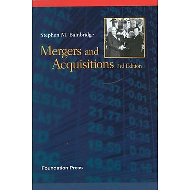 Bainbridge's Mergers and Acquisitions, 3d (Concepts and Insights Series), New Book (9781609301323)