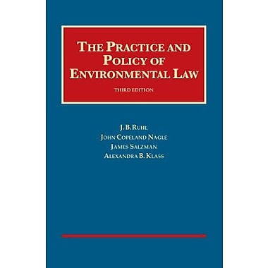 The Practice and Policy of Environmental Law (University Casebook Series), New Book (9781609303983)