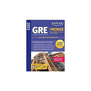 Kaplan 2013 GRE Premier: with 5 Online Practice Tests + DVD, New Book (9781609781002)