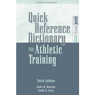 Quick Reference Dictionary for Athletic Training, New Book (9781617110689)