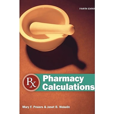 Pharmacy Calculations, New Book (9781617310744)