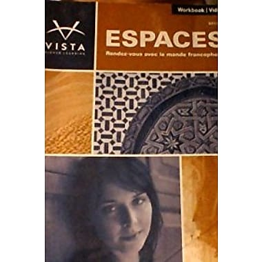 Espaces, 2nd Edition, Workbook/Video Manual, New Book (9781617675812)