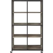 Altra Mason Ridge Mobile Bookcase/Room Divider with Metal Frame, Sonoma Oak/Black