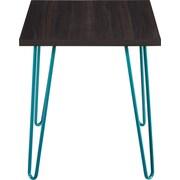 Altra Owen Retro Accent Table, Espresso/Teal