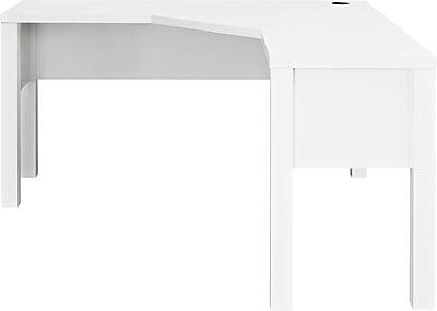 Altra™ Benjamin L Desk with Hutch, Natural/Gray