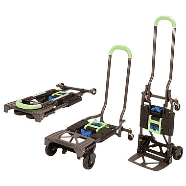 Cosco Shifter Multi-Position Folding Hand Truck and Cart, Black