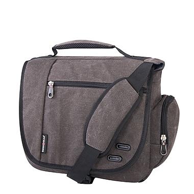 Swiss Gear - Sac messager en toile pour portatif de 14 po, gris