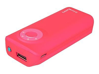 Urban Factory 4400 mAh Pocket-Sized Emergency Battery, Pink