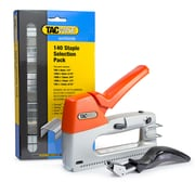 Tacwise 1263 Staple Gun Kit, includes Z3-140 Staples Gun, 5,400 Staples in 5 Sizes and a Pro Staple Remover, Orange/Silver
