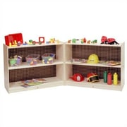 Steffy Small Folding Shelving Unit w/ Casters