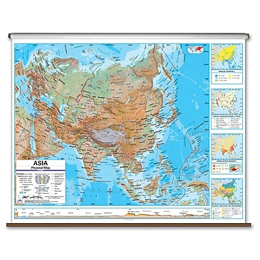 Universal Map Advanced Physical Map - Asia