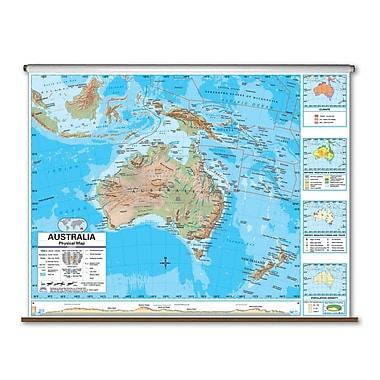 Universal Map Advanced Physical Map - Australia