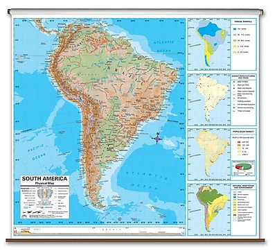 Universal Map Advanced Physical Map - North America; Roller