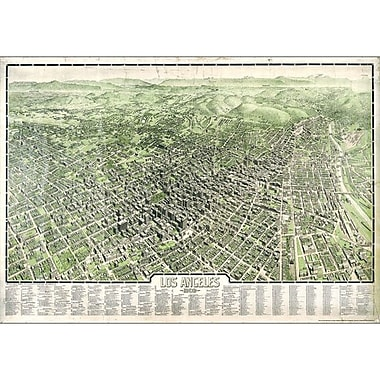 Universal Map Los Angeles 1909 Historical Print Mounted Wall Map