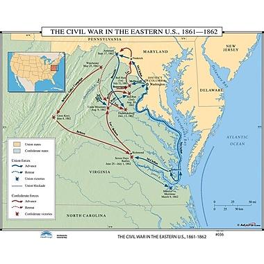 Universal Map U.S. History Wall Maps - Civil War in Eastern U.S.
