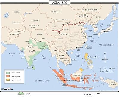 Universal Map World History Wall Maps - Asia 1800
