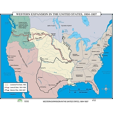 Universal Map World History Wall Maps - Western Expansion in U.S.