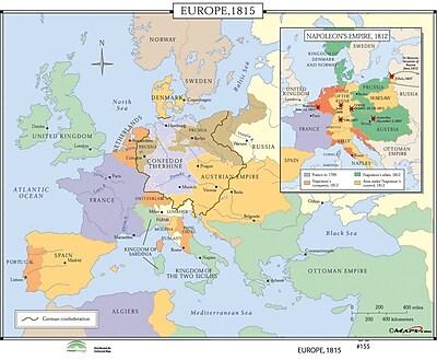 Universal Map World History Wall Maps - Europe 1815