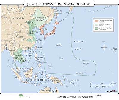 Universal Map World History Wall Maps - Japanese Expansion in Asia