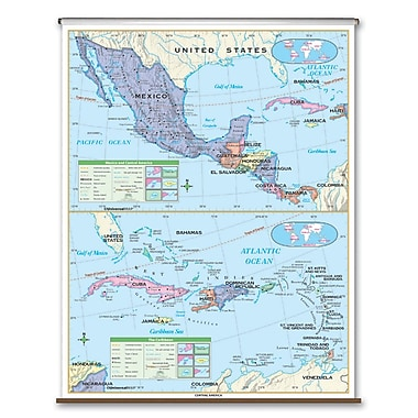 Universal Map Primary Wall Map - Central America