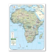 Universal Map Shaded Relief Map - Continent; North America