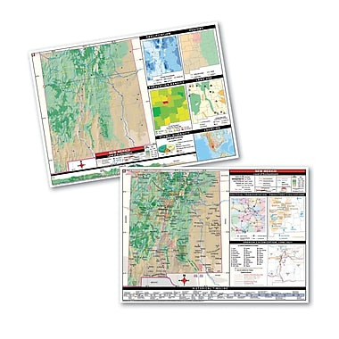 Universal Map Thematic Deskpad Class Set - New Mexico