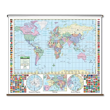 Universal Map Primary Wall Map - World