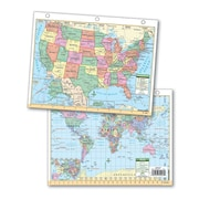 Universal Map US & World Notebook Maps