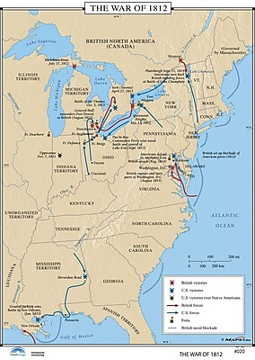 Universal Map U.S. History Wall Maps - War of 1812