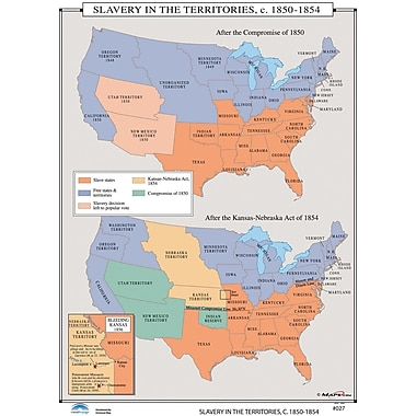 Universal Map U.S. History Wall Maps - Slavery in the Territories