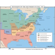 Universal Map U.S. History Wall Maps - Secession of the Southern States