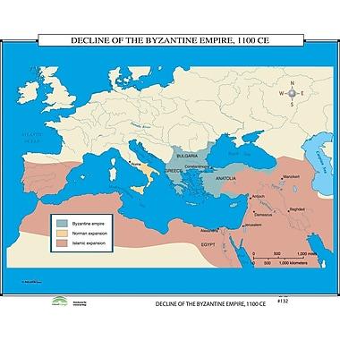 Universal Map World History Wall Maps - Decline of Byzantine Empire