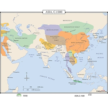 Universal Map World History Wall Maps - Asia c.1500