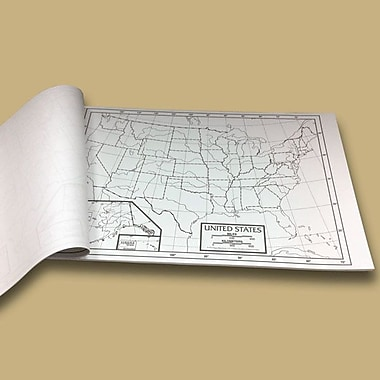Universal Map U.S. Outline Map Pad