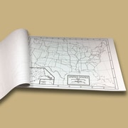Universal Map U.S. Outline Map Pad