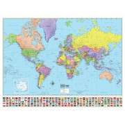 Universal Map World Advanced Political Map; Mounted