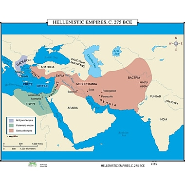 Universal Map World History Wall Maps - Hellenistic Empires